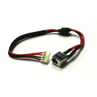 Toshiba A500 L455 L455D L555 L555D gyári új DC jack aljzat alaplapi kábellel