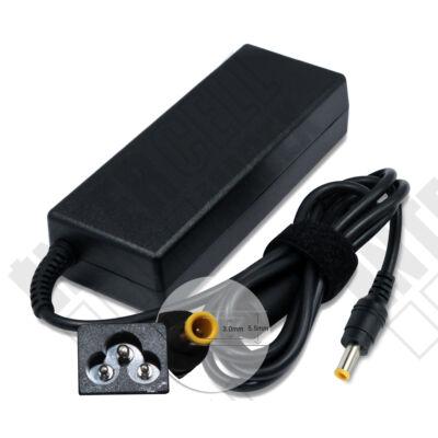 Samsung R411I 5.5*3.0mm + pin 19V 4.74A 90W fekete notebook/laptop hálózati töltő/adapter utángyártott