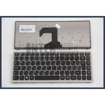 Lenovo Ideapad S300 fekete (ezüst keret) magyar (HU) laptop/notebook billentyűzet