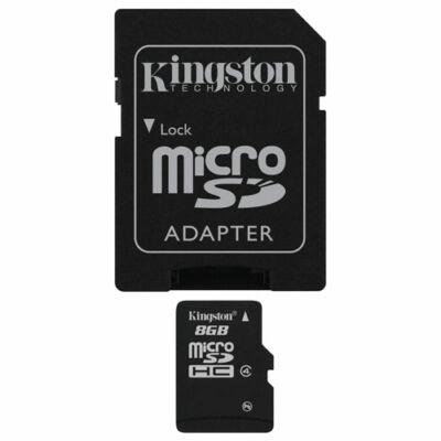 Kingston 8GB Micro SDHC Class 10 SD memóriakártya