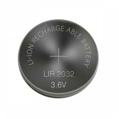 Li-Ion LIR2032 45mAh 3.6V újratölthető akku / akkumulátor / elem / gombelem