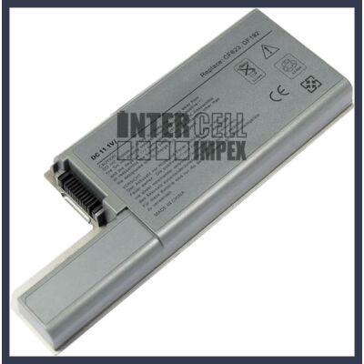 DELL CF704 6600 mAh 9 cella ezüst notebook/laptop akku/akkumulátor utángyártott