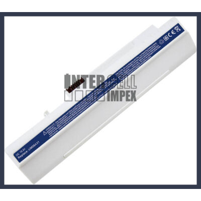 Acer UM08B72 6600 mAh 9 cella fehér notebook/laptop akku/akkumulátor utángyártott