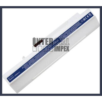 Acer Aspire One ZG5  6600 mAh 9 cella fehér notebook/laptop akku/akkumulátor utángyártott