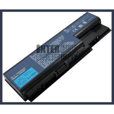 Acer Extensa 7630 4400 mAh 6 cella fekete notebook/laptop akku/akkumulátor utángyártott