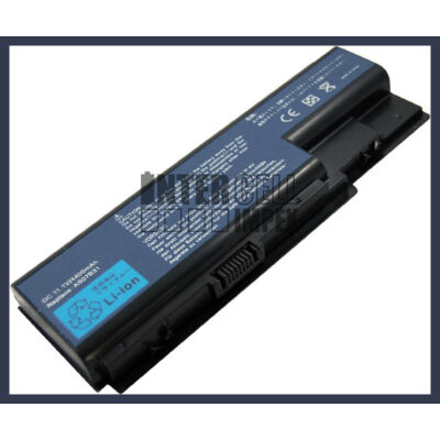 Acer Aspire 5230 4400 mAh 6 cella fekete notebook/laptop akku/akkumulátor utángyártott