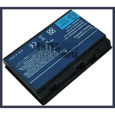 Acer TravelMate 5330 4400 mAh 6 cella fekete notebook/laptop akku/akkumulátor utángyártott