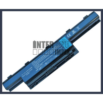 Acer Packard Bell EasyNote TM80 4400 mAh 6 cella fekete notebook/laptop akku/akkumulátor utángyártott
