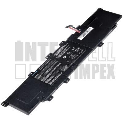 ASUS VivoBook S300C Series 4000 mAh 3 cella fekete notebook/laptop akku/akkumulátor utángyártott