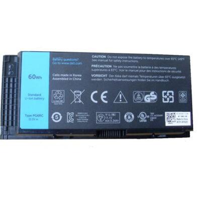 DELL 33F0D 4400 mAh 6 cella fekete notebook/laptop akku/akkumulátor utángyártott