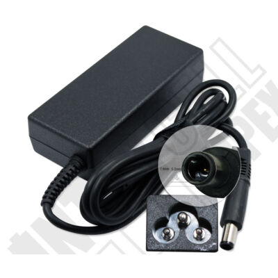 HP Compaq 6535b 7.4*5.0mm + 0.6mm pin 18.5V 3.5A 65W fekete notebook/laptop hálózati töltő/adapter utángyártott