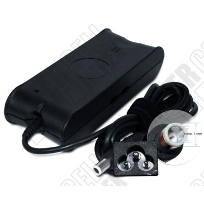 DELL Latitude E4300 7.4*5.0mm + pin 19.5V 3.34A 65W fekete notebook/laptop hálózati töltő/adapter utángyártott